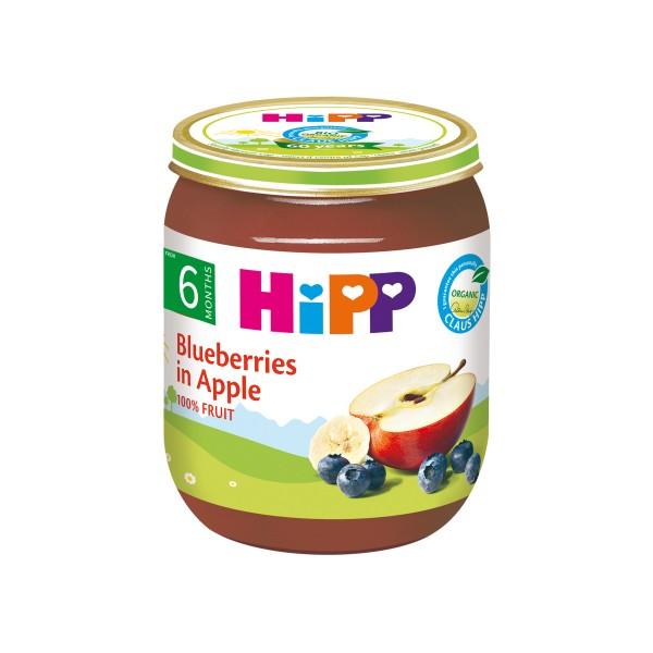 HiPP Organic Blueberries in Apple 125g