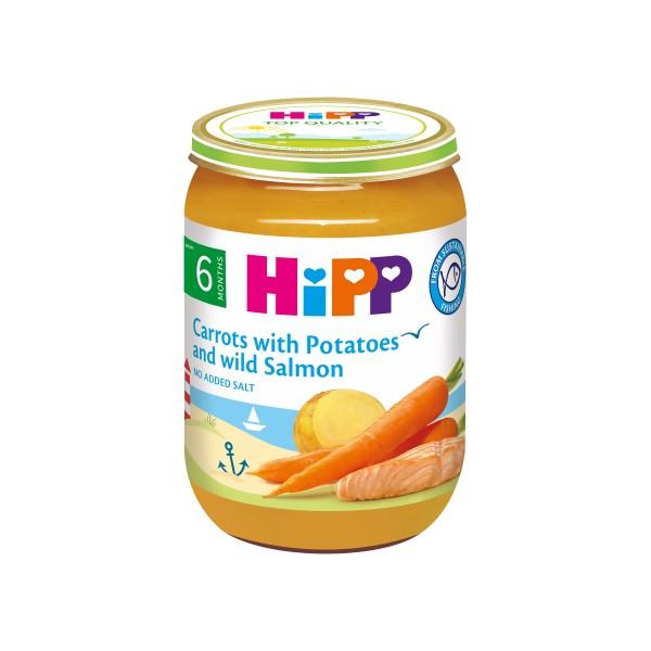 HiPP Organic Carrots with Potatoes and Wild Salmon 190g