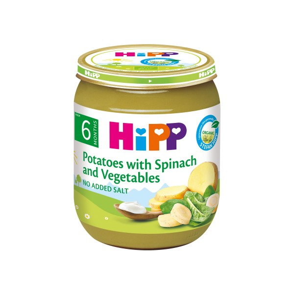 HiPP Organic Creamed Spinach with Potatoes 125g