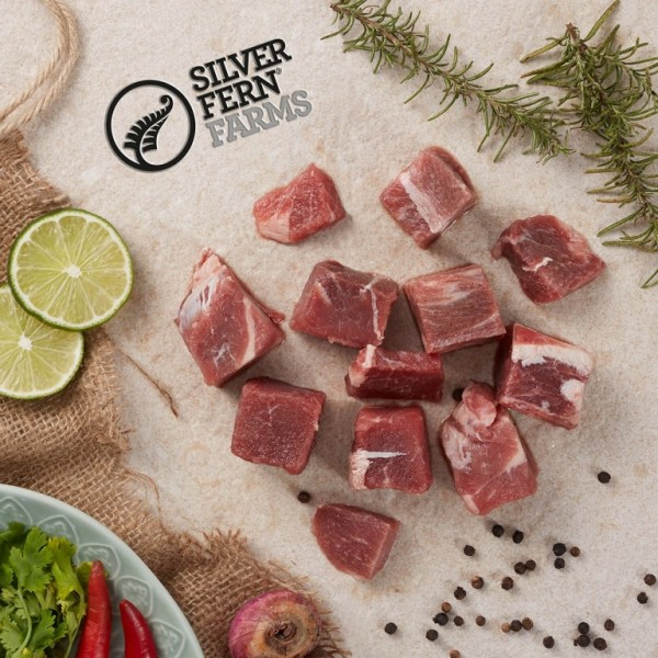 SilverFern® Grass Fed Free Range Angus Beef Cubes