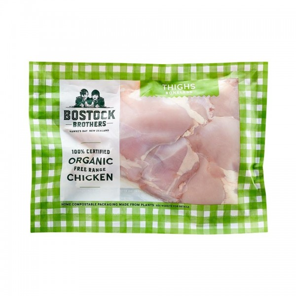 Organic Free-Range Chicken Thighs Boneless Skinless