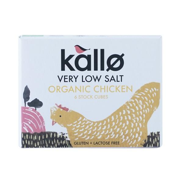 Kallo Foods Organic Low Salt Chicken Stock Cubes