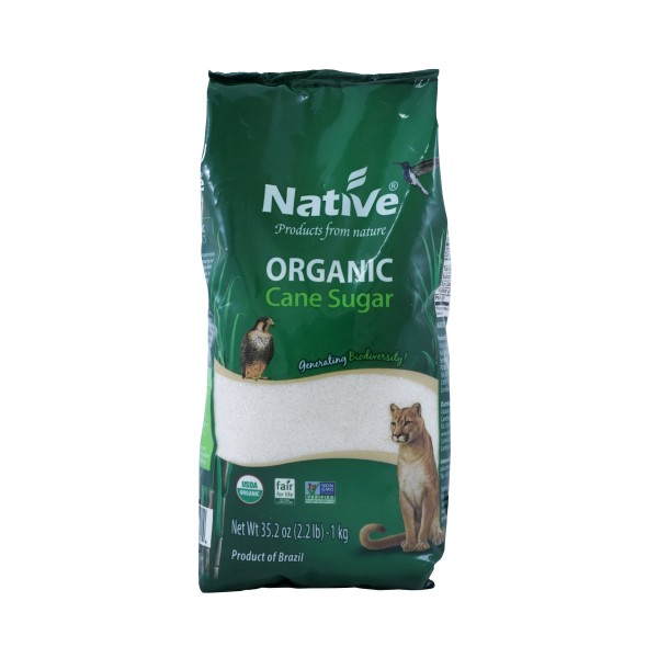 Native Organic White Crystal Cane Sugar