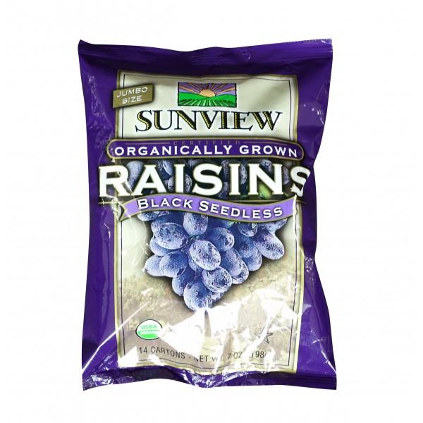 Sunview Organic Raisins Black Snackpack
