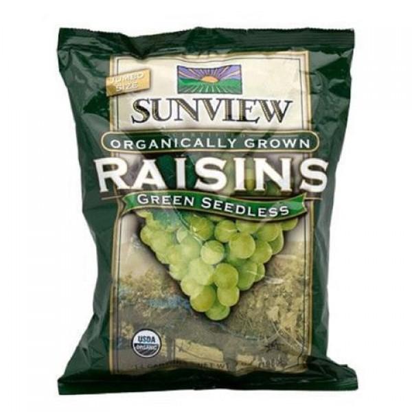 Sunview Organic Raisins Green Snackpack