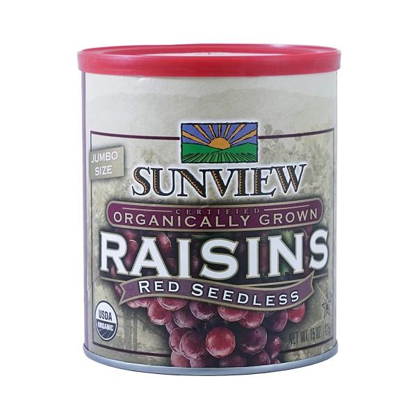 Sunview Organic Raisins Red Can