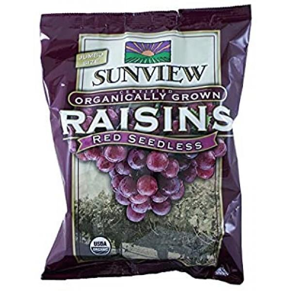 Sunview Organic Raisins Red Snackpack