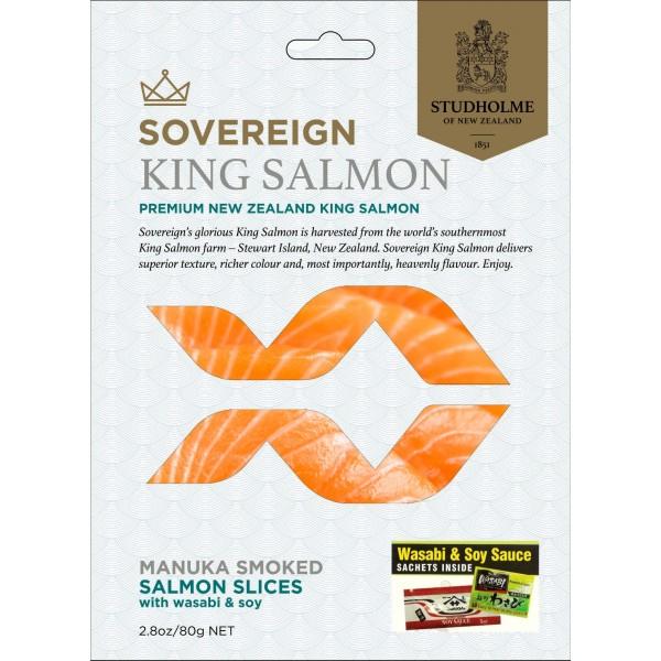 Sovereign NZ King Salmon Manuka Smoked Salmon Interleaved Slices
