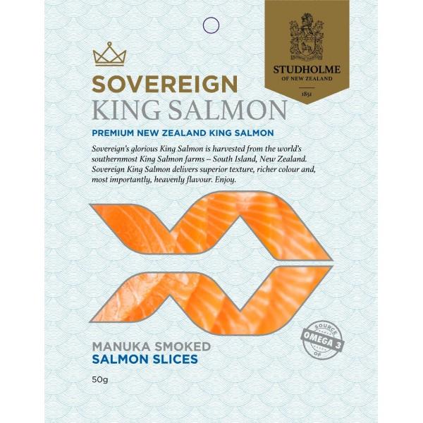 Sovereign NZ King Salmon Manuka Smoked Salmon Slices